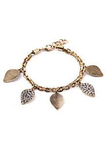 Leaves Of Gold & Light Bracelet - Avery and May